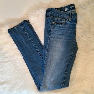 American Eagle Skinny Stretch Jeans, 4 Long
